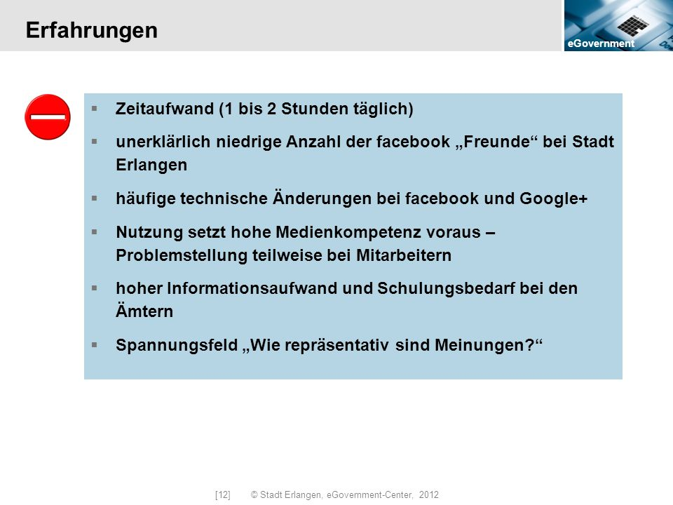 [12] © Stadt Erlangen, eGovernment-Center, 2012